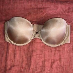 Victoria Secret strapless unlined bra